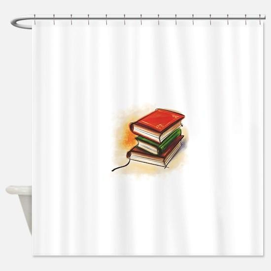 2-33-bookss.GIF Shower Curtain