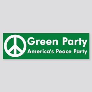 Green Party Peace Sign Bumper Sticker
