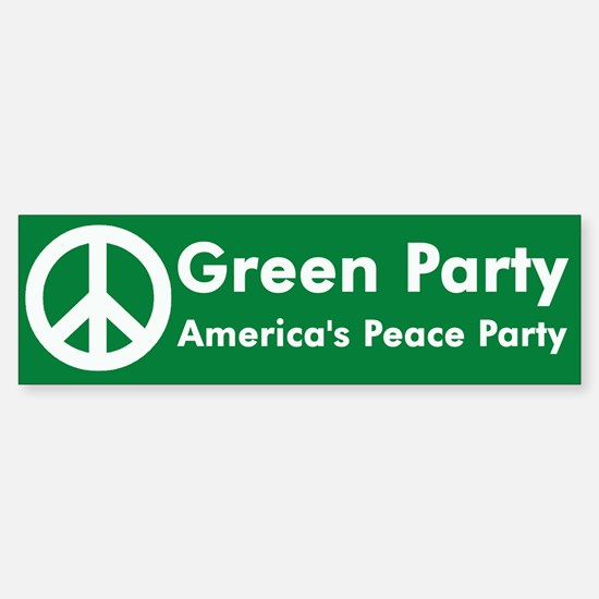 Green Party Peace Sign Bumper Bumper Bumper Sticker