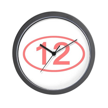 Number 12 Oval Wall Clock