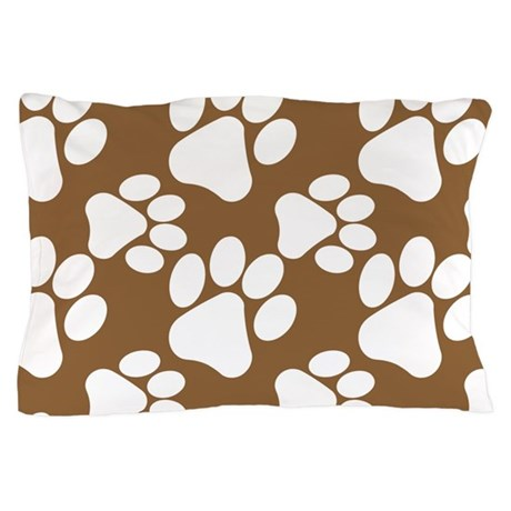 Dog Paws Brown-Small Pillow Case