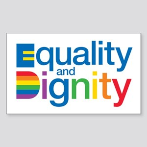 Equality and Dignity Sticker