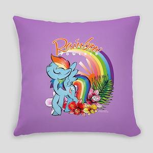 MLP-Rainbow Powered Everyday Pillow