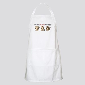 Hear No Evil... BBQ Apron