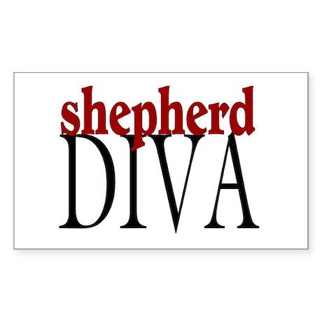 Shepherd Diva Rectangle Sticker