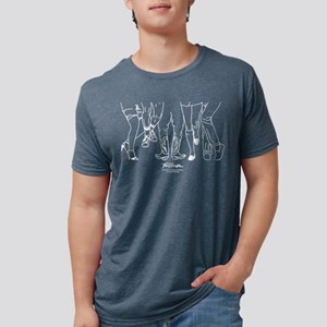 Footloose Cartoon Feet Mens Tri-blend T-Shirt