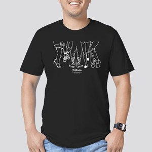 Footloose Cartoon Feet Men's Fitted T-Shirt (dark)