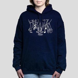 Footloose Cartoon Feet Women's Hooded Sweatshirt