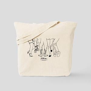 Footloose Cartoon Feet Tote Bag