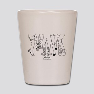 Footloose Cartoon Feet Shot Glass