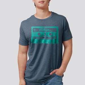 Footloose Teal Cassette Mens Tri-blend T-Shirt
