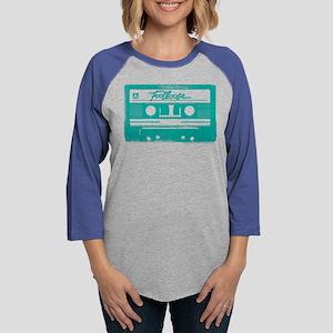 Footloose Teal Cassette Womens Baseball Tee
