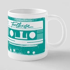 Footloose Teal Cassette 20 oz Ceramic Mega Mug