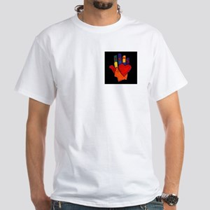 Hand and Hearts White T-Shirt