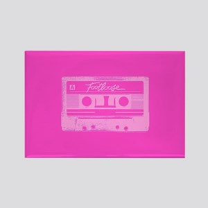 Footloose Pink Cassette Rectangle Magnet
