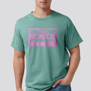Footloose Pink Cassette Mens Comfort Colors Shirt