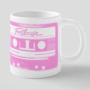 Footloose Pink Cassette 20 oz Ceramic Mega Mug