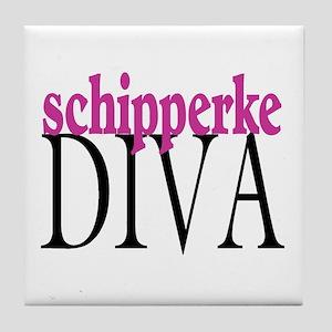 Schipperke Diva Tile Coaster