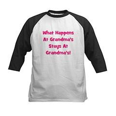 What Happens At Grandma's Pin Kids Baseball Jersey