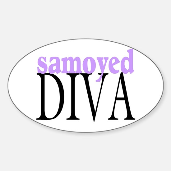 Samoyed Diva Oval Decal