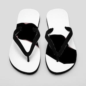 ab81c8827648 Stocking Clad Ankle Flip Flops