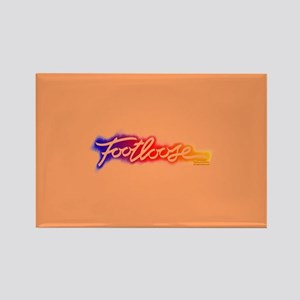 Footloose colorful Stencil Rectangle Magnet