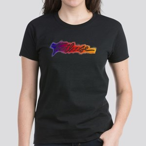 Footloose colorful Stencil Women's Dark T-Shirt