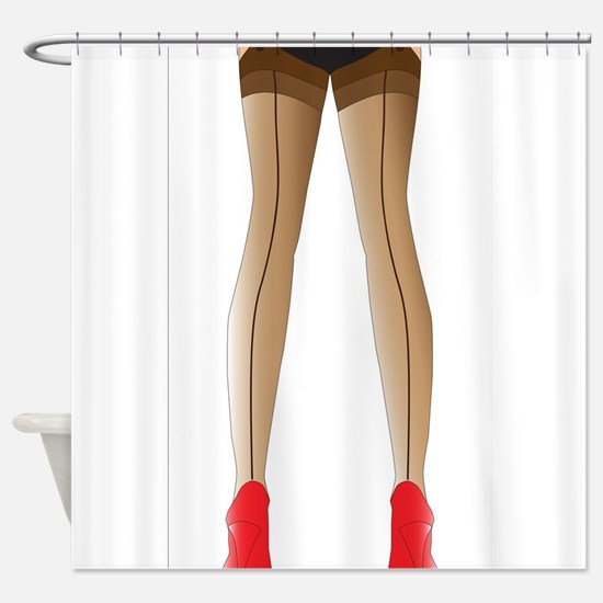 Sexy Stocking Legs Shower Curtain