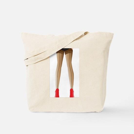 Sexy Stocking Legs Tote Bag