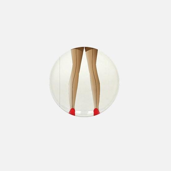Sexy Stocking Legs Mini Button