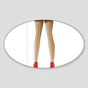 Sexy Stocking Legs Sticker