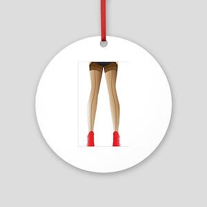 Sexy Stocking Legs Round Ornament