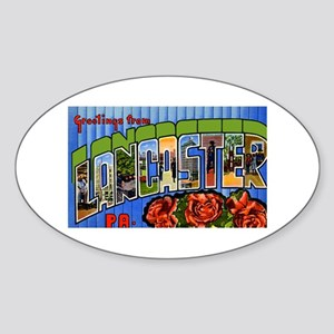 Lancaster Pennsylvania Greetings Oval Sticker