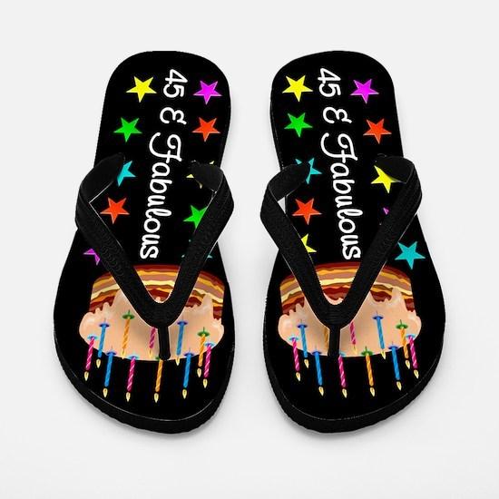 ELEGANT 45TH Flip Flops