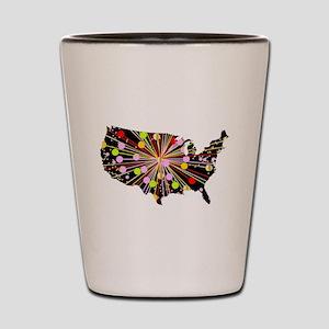 United States Map Celebration Shot Glass