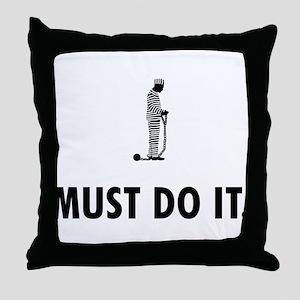 Inmate Throw Pillow