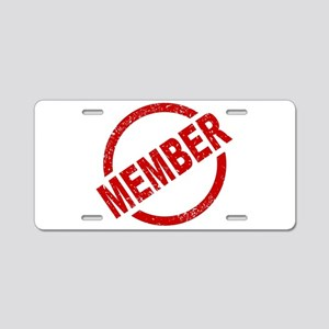 Member Ink Stanp Aluminum License Plate