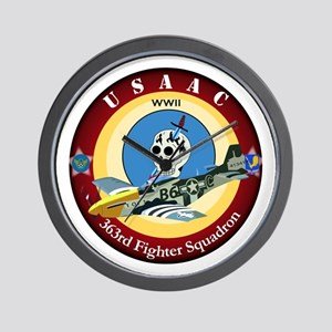363rd Fighter Squadron - P51 Mustang Wall Clock