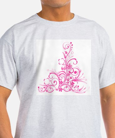 Pink Floral Swirl 1 T-Shirt