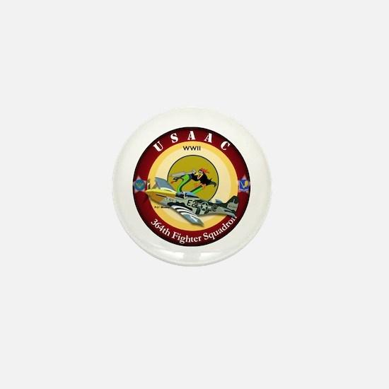 364th Fighter Squadron - P51 Mustang Mini Button