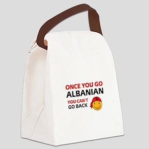 Albanian smiley designs Canvas Lunch Bag