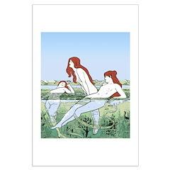 Art Nouveau: Bathing Nymphs Posters