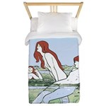 Art Nouveau: Bathing Nymphs Twin Duvet