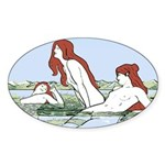 Art Nouveau: Bathing Nymphs Sticker