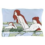 Art Nouveau: Bathing Nymphs Pillow Case