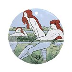 Art Nouveau: Bathing Nymphs Ornament (Round)