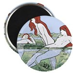 Art Nouveau: Bathing Nymphs Magnet