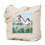 Art Nouveau: Bathing Nymphs Tote Bag