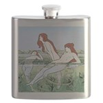 Art Nouveau: Bathing Nymphs Flask