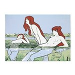 Art Nouveau: Bathing Nymphs 5'x7'Area Rug